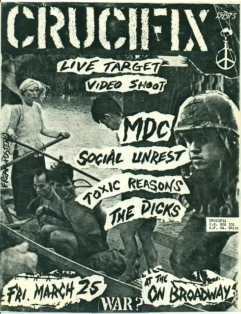 CRUCIFIX, MDC, Social Unrest, Toxic Reasons, The Dicks at the ON BROADWAY, San Francisco, CA 1983