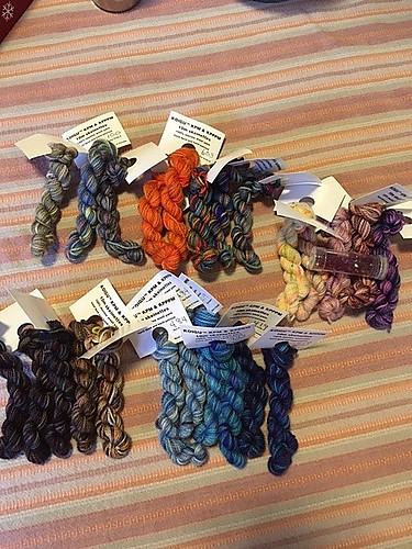 """As Sandi (Sandima) put it on Ravelry, """"Such fun, I bought an advent calendar for me"""" and posted a pic of each day!!"""