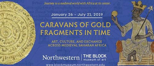 Caravans of Gold exhibit banner