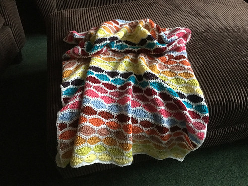 Debbie's crocheted baby blanket using Bergere de France Ideal