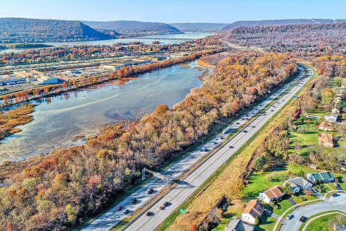 harrisburg pa pennsylvania aerial photo drone