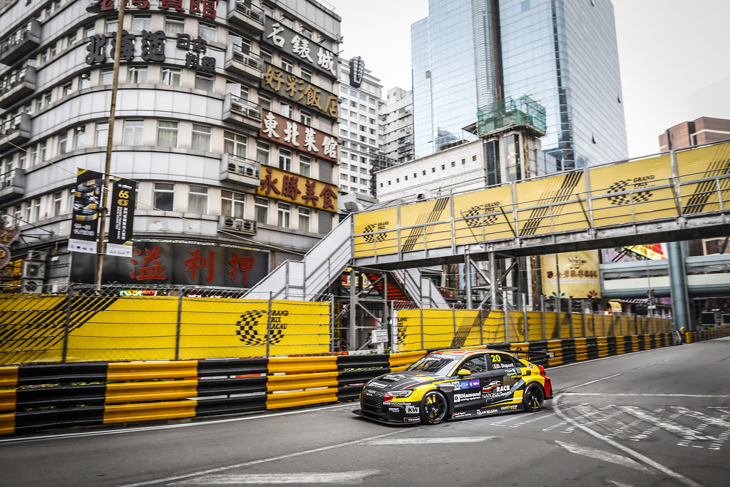 20 DUPONT Denis, (bel), Audi RS3 LMS TCR team Comtoyou Racing, action during the 2018 FIA WTCR World Touring Car cup of Macau, Circuito da Guia, from november  15 to 18 - Photo Francois Flamand / DPPI