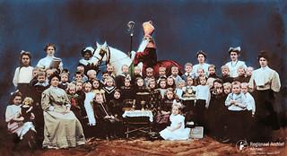 Sinterklaas bezoekt de bewaarschool 1908