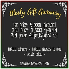 atooly gift giveaway - 12/15 - 12/19 Details below!