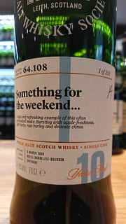 SMWS 64.108 - Something for the weekend...