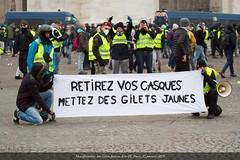 Paris, manifestation du 12 janvier 2019 des Gilets Jaunes Acte IX