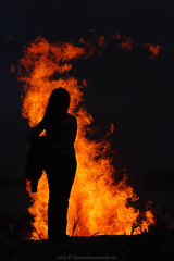 Girl in fire