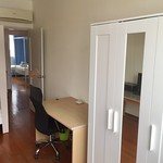 Study table and wardrobe