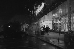 Rainy Night Shopping Center