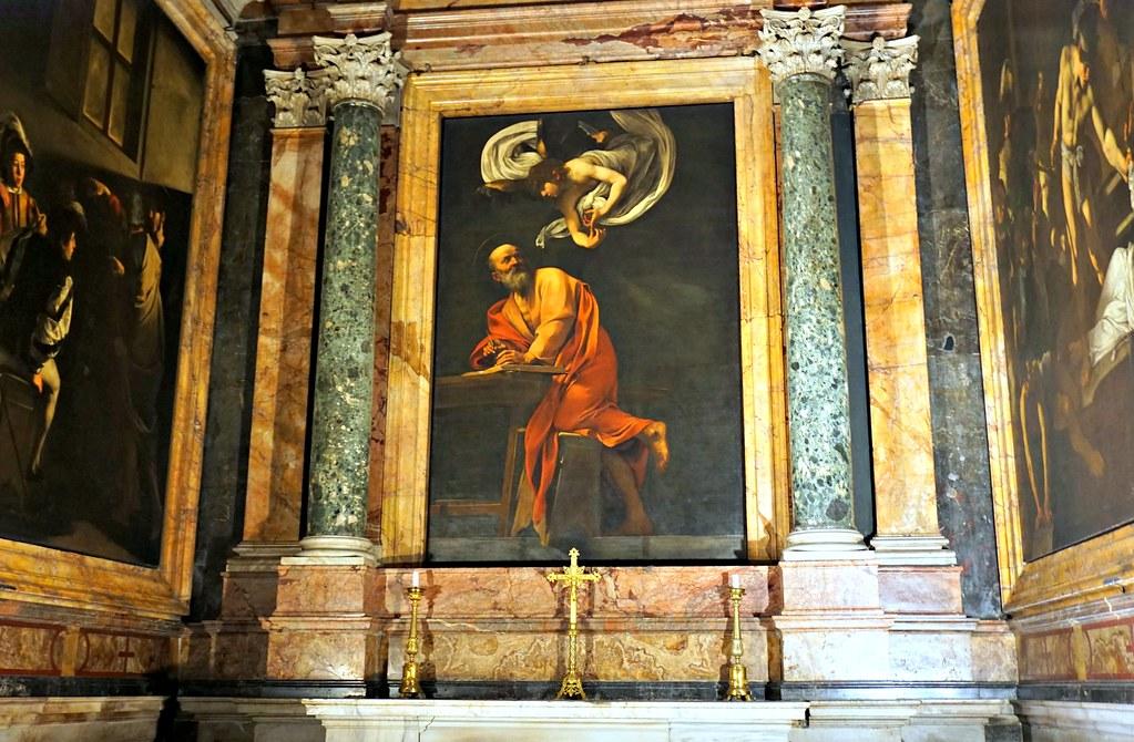 Caravaggion maalaukset Matteuksen elämästä