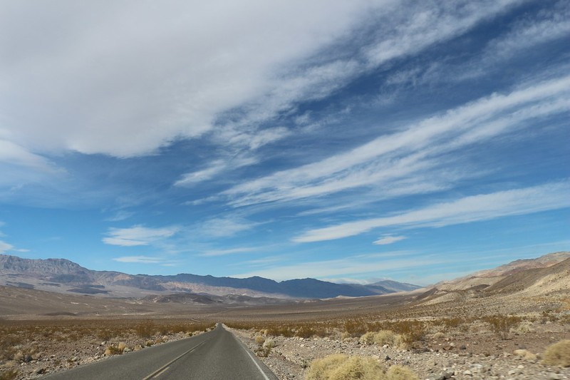 Long but beautiful drive north on Scotty's Castle Road