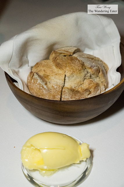 Fresh baked boule with the very fine demi-salted French butter