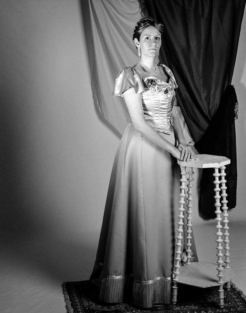 Portrait robe du soir victorienne