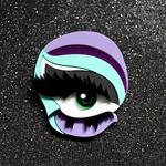 Meth eye brooch