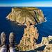 Cape Pillar and Tasman Island by NettyA