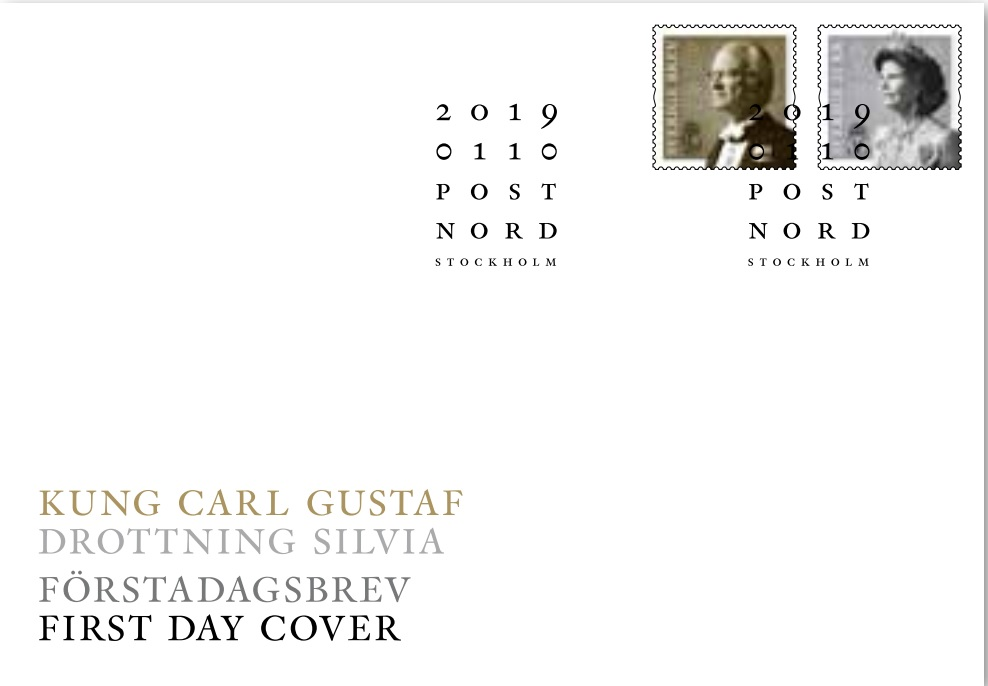 Sweden - King Carl Gustaf and Queen Silvia (January 10, 2019) first day cover