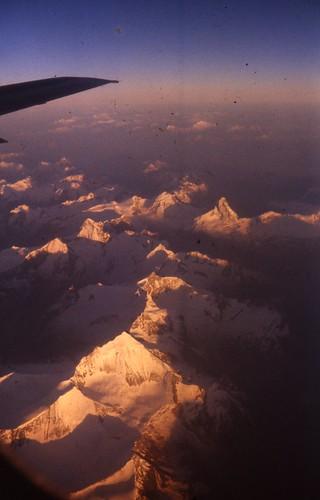 Alps seen from plane. Matterhorn?