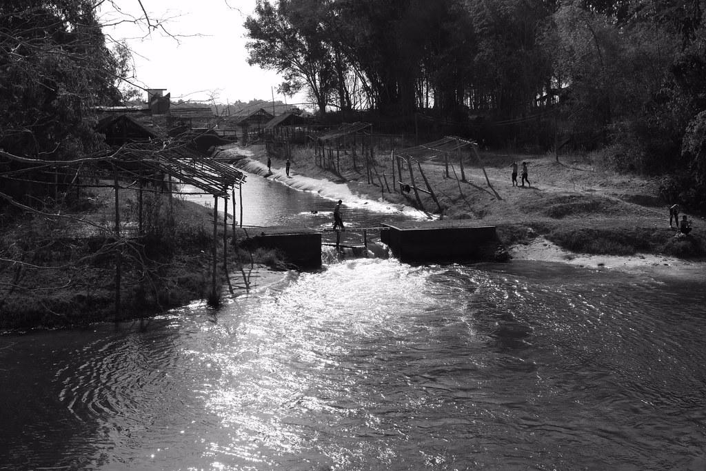 Go swimming in a river