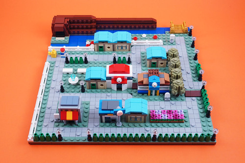 Cerulean City: Microscale Build | by BrickinNick