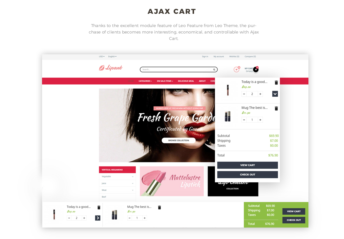 ajax add to cart - Leo Lipart - Cosmetics and Beauty Prestashop Theme
