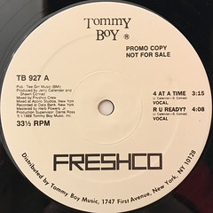 FRESHCO:4 AT A TIME(LABEL SIDE-A)