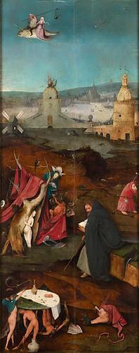 Искушение святого Антония, правая створка триптиха