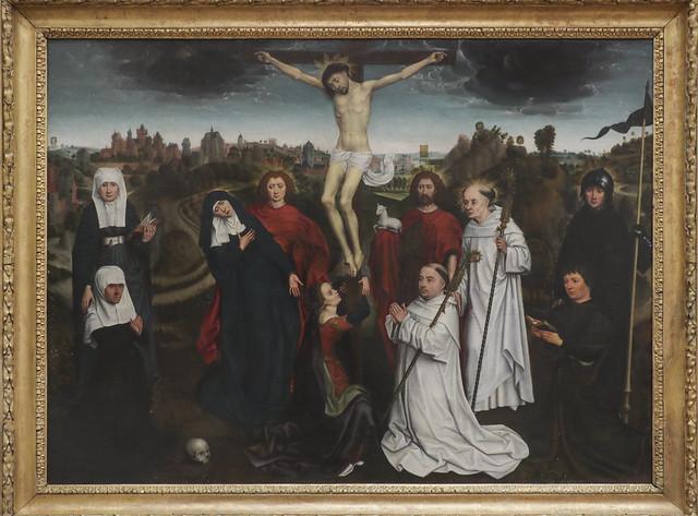 Crocifissione con santi e donatori, Hans Memling 1435(40)-1494