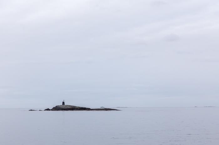 hyvä hotelli Norja Atlantic road Hustadvika Gjestehus Fræna luoto maisema