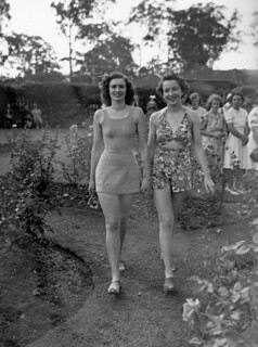 Swimsuit fashion parade at Government House, Brisbane, December 1940