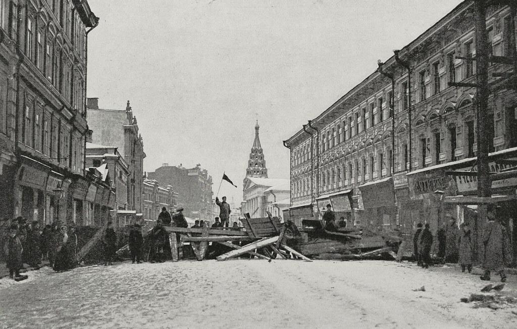 Баррикады во время московского восстания
