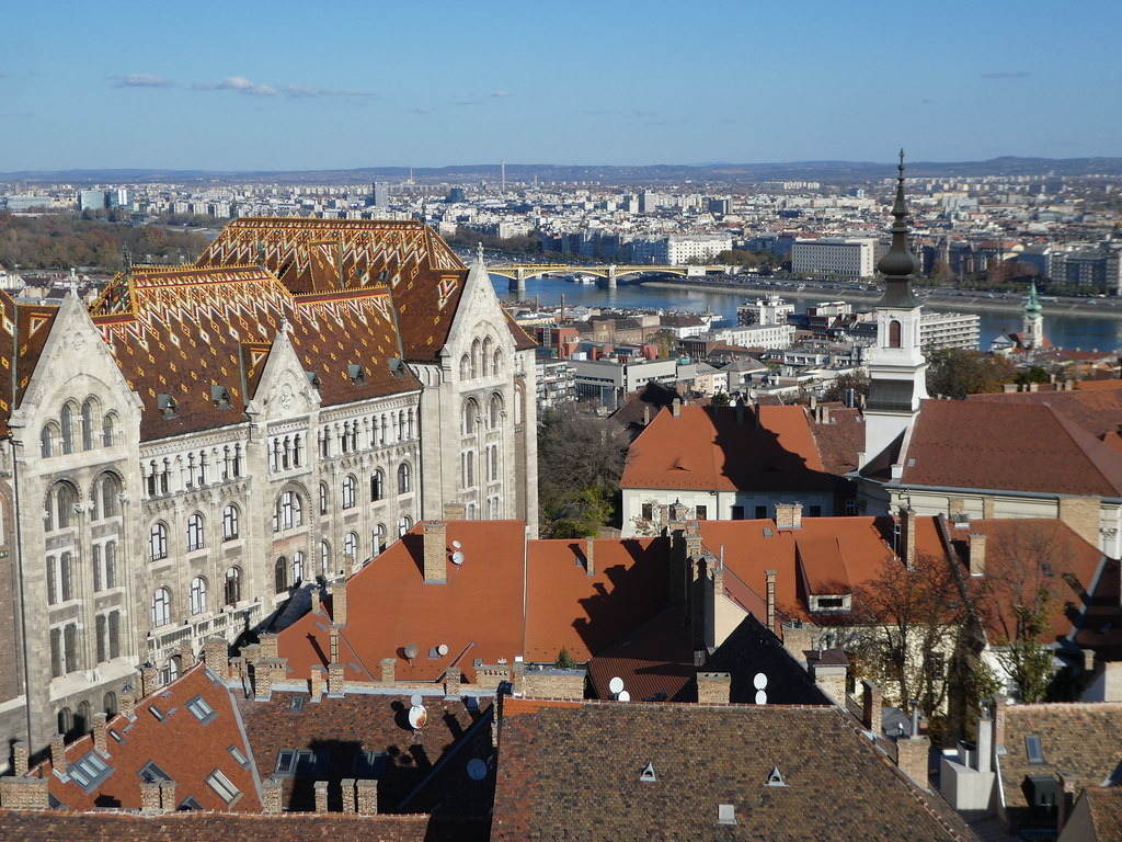 Panoramic views from the top of the Buda Tower, Budapest
