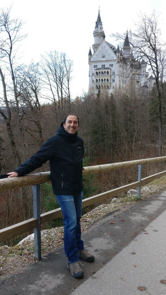 with the fabulous Neuschwanstein Castle behind