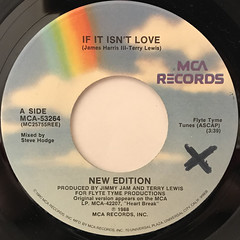 NEW EDITION:IF IT ISN'T LOVE(LABEL SIDE-A)