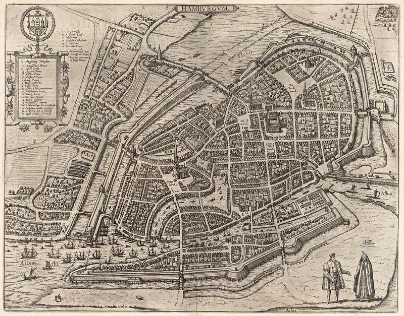 Georg Braun & Franz Hogenberg - Hamburgum (Hamburg) (1588)