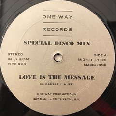 BROOKLYN EXPRESS:LOVE IS THE MESSAGE(LABEL SIDE-A)