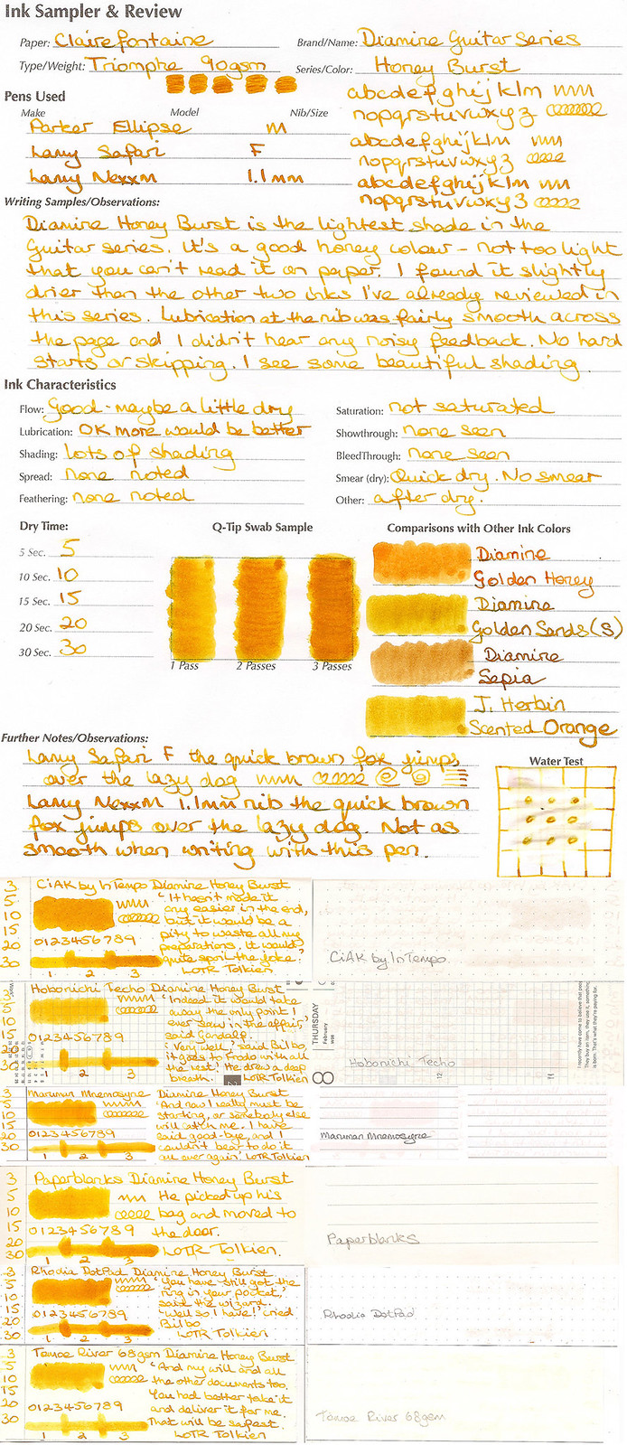 Diamine Honey Burst 1
