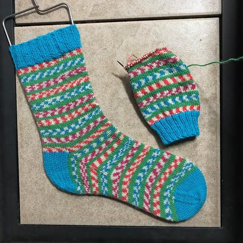 Fairy Lights Socks are on my needles!