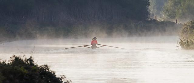 The rower - Riverside Valley Park, Exeter, Devon - Sept 2018