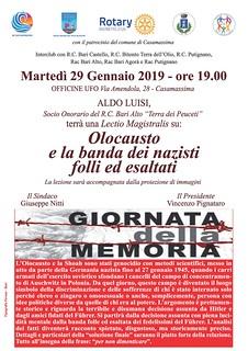 locandina GIORNATA DELLA MEMORIA 2019 vettoriale
