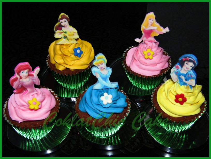Cupcake disney princes edible