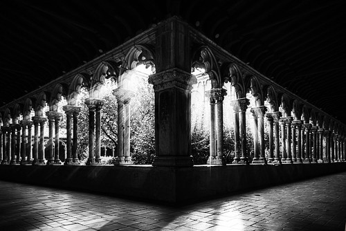 moody fine art of the atmospheric cloister at Musée des Augustins, Toulouse, Haute-Garonne, Occitanie, France