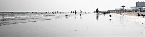 atlanticcity nj outdoor landscape urban beach people highkey monochrome widescreen sand ocean