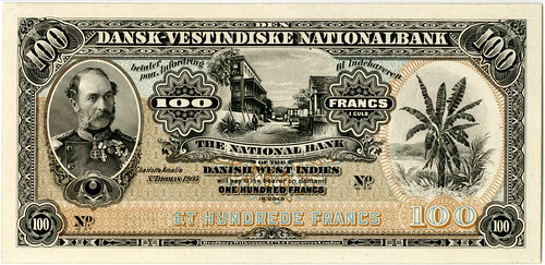 Lot 235. National Bank of the DWI, 1905 Proof Banknote. Est.$2,500-$4,000