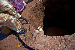 Withdrawing water from a well