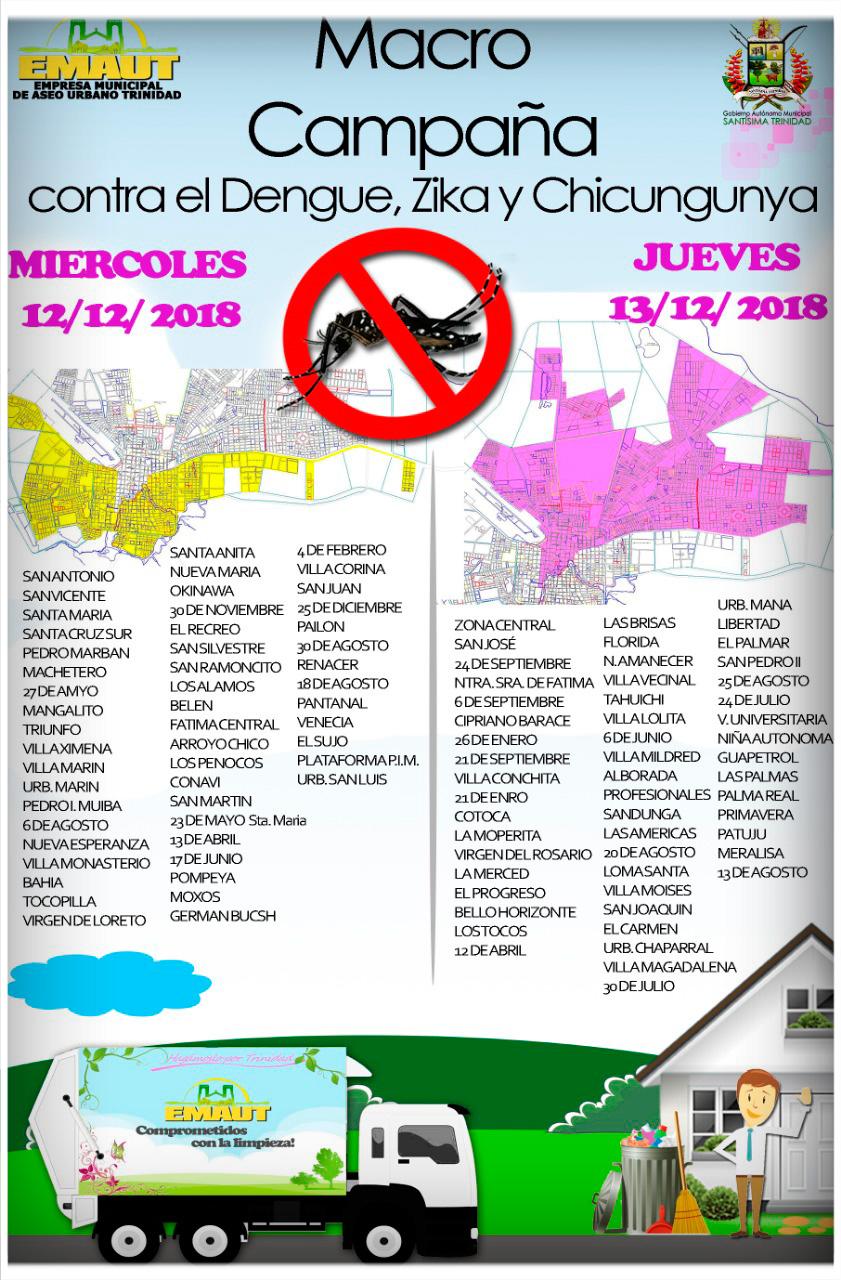 MACRO CAMPAÑA CONTRA EL DENGUE, ZIKA Y CHICUNGUNYA