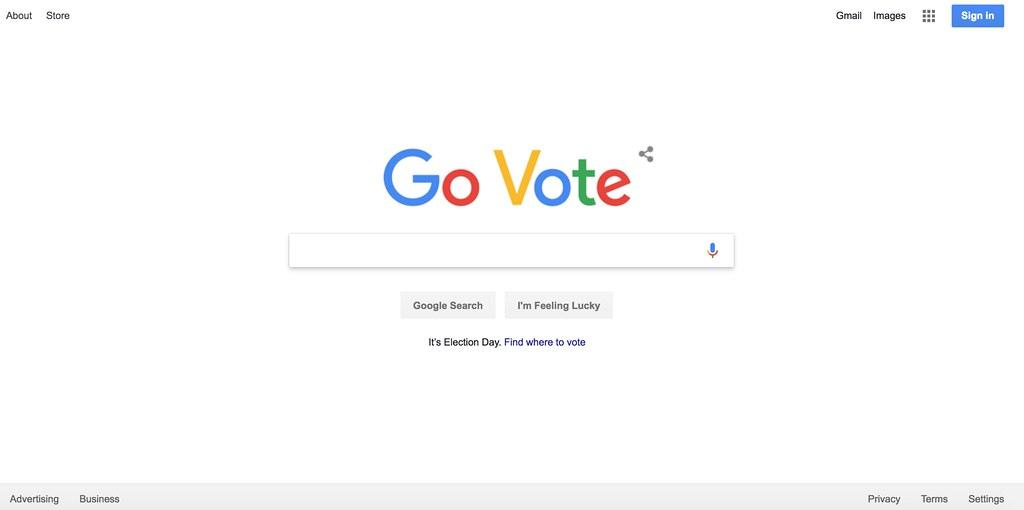 Google com's Go Vote homepage - Download Photo - Tomato to