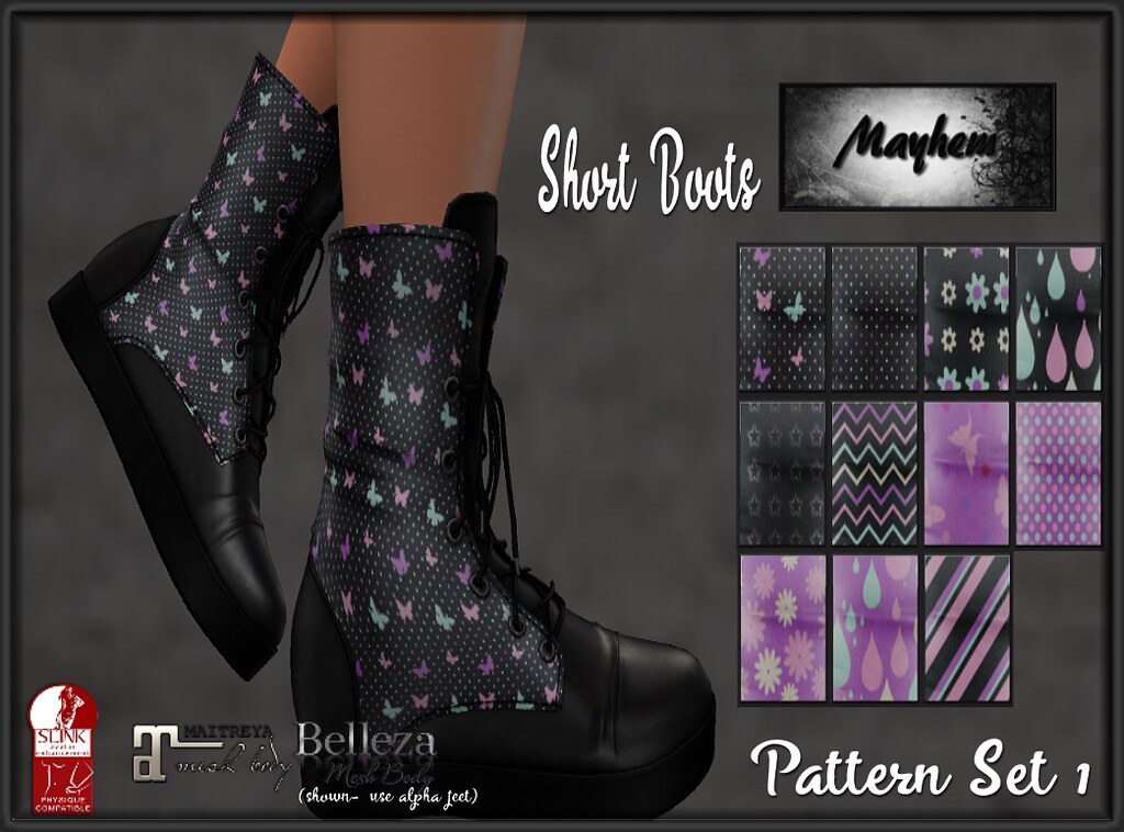 Mayhem Short Boots Pattern Set 1 - TeleportHub.com Live!