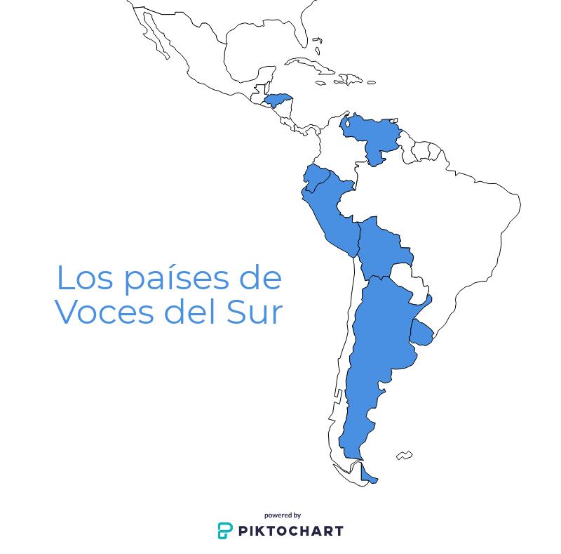 Los paises de Voces del Sur