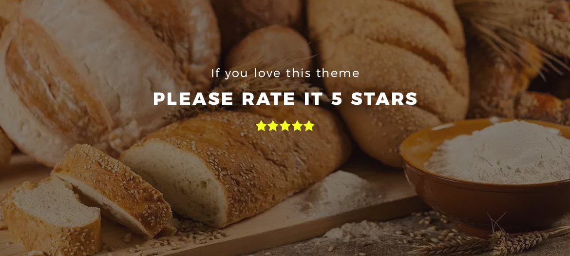 rate this theme 5 stars - food and drink Prestashop theme