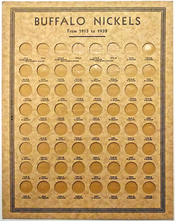 Buffalo Nickel coin board L5cBd face